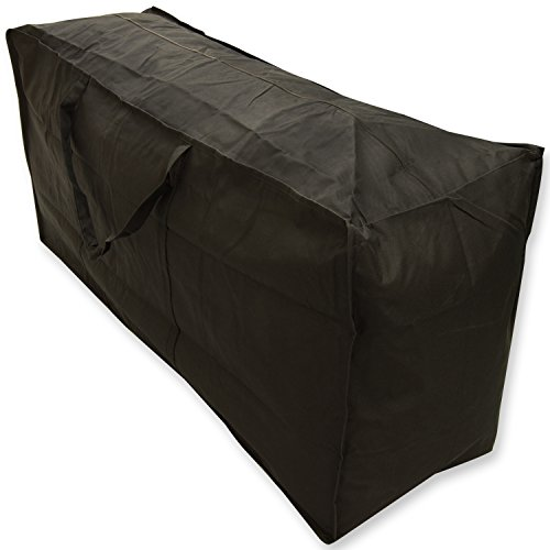 Woodside Water Resistant Outdoor Garden Furniture Cushion Storage Bag, Black, Heavy Duty 600D Material, 5 YEAR GUARANTEE