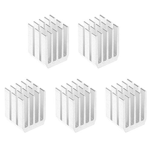 ZOUCY 5-delig/los 9 * 9 * 12 mm aluminium koeling radiator chip RAM radiator radiator radiator