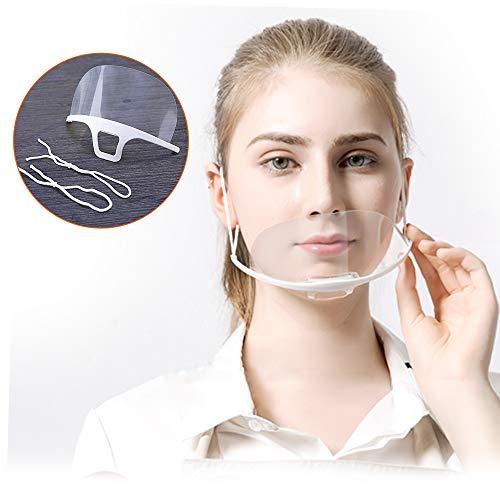 10 pezzi Visiera Bocca Paraschizzi Face Shield Trasparente Coperchio Antinebbia Proteggi Gli Occhi e Il Viso