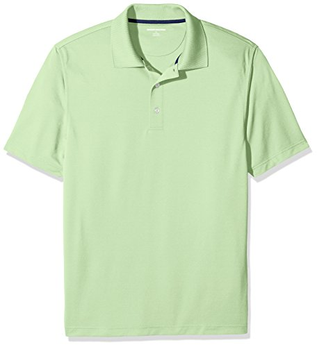 Amazon Essentials Men's Regular-Fit Quick-Dry Golf Polo Shirt, Lime Green, X-Large