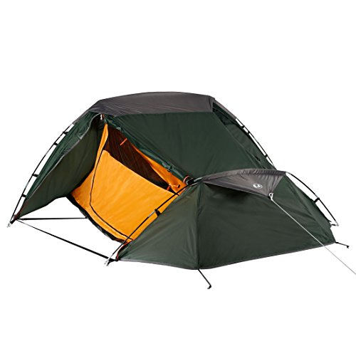 Ultrasport 2 Tente de randonnée Mixte Adulte, Vert/Orange, deux personnes