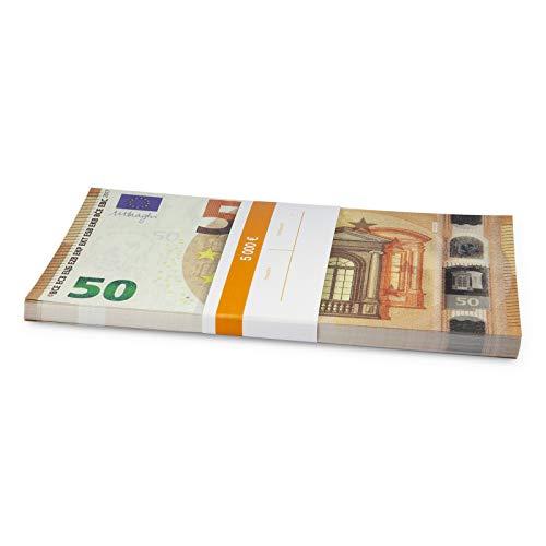 Litfax GmbH 50€ Euroschein / Euro-Geldscheine ca. 180x97 mm / banderoliert, je Pack. 75 Stück (1 PG)