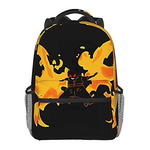 Shinra Kusakabe Zaino Fire Force Grande Capacità Borsa Scuola Laptop Zaino Portatile Per Viaggi Ufficio Shopping