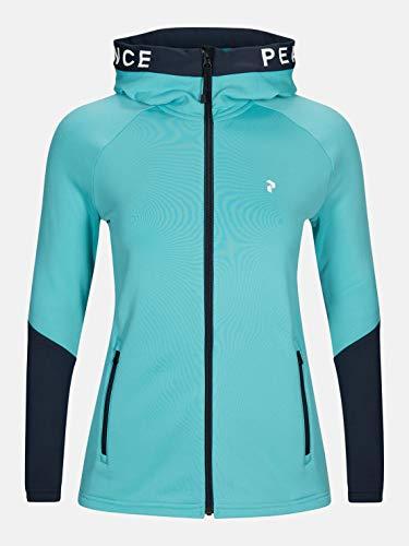 Peak Performance W Rider Zip Hood Colorblock-Blau, Damen Jacke, Größe M - Farbe Tonic Sky