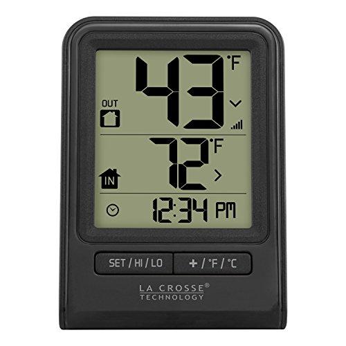 La Crosse Technology 308-1409BT-CBP Wireless Temperature Station,Black
