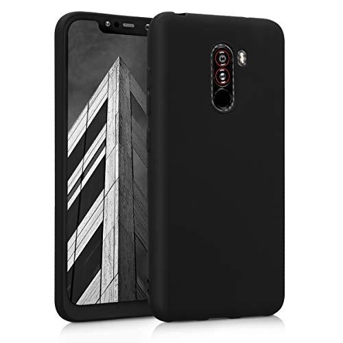 kwmobile Coque Compatible avec Xiaomi Pocophone F1 - Housse de téléphone Protection Souple en Silicone - Noir Mat