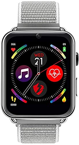 LEM10 4G reloj inteligente 1 82 pulgadas pantalla a color 2 millones de cámara 700 mAh batería 1+16G monitoreo de frecuencia cardíaca negro-plata