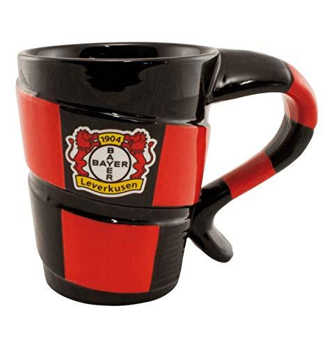 Bayer 04 Leverkusen Tasse - Schal- Kaffeetasse, Kaffeepott, Mug - Plus Lesezeichen Wir lieben Fußball
