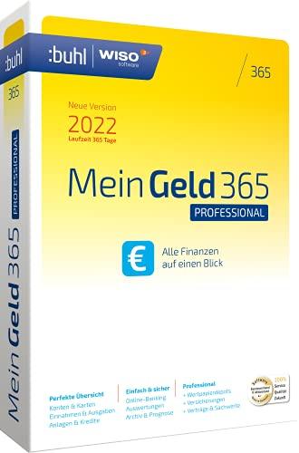 WISO Mein Geld Professional 365 (aktuelle Version 2022)| Laufzeit 365 Tage.