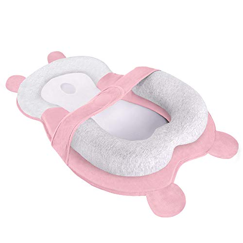 Why Should You Buy XMWEALTHY Portable Baby Lounger Pillows Newborn Head Support Prevent Flat Head Pillows Infant Mattress Lounger Nest for Baby Sleep Positioning Age 0-6 Months Pink