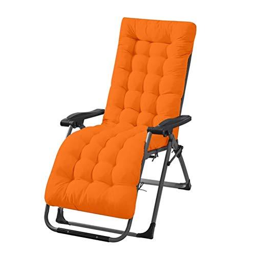 JIFNCR Lounge Chair Cushions Recliner Garden Chair Pad Soft Foam Flakes Seat Cushion Double-Face Thick Mat High Back Chair Cushion Portable Durable Sun Lounger Mattress,Orange,48 * 125 * 8CM