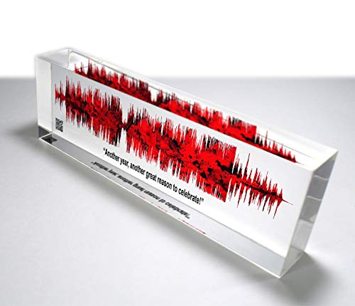 OOCLAS Sound Wave Gift, Custom Soundwave, Acrylic Soundwave Art, Customize Any Personalized Recording or Song On Acrylic Block Size (12 X 3 x 1.25 Inches)