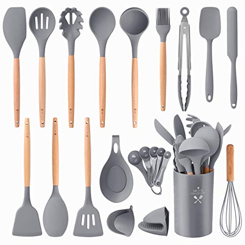 Silicone Kitchen Utensils Set, Premium Cooking Utensil Set 22Pcs,...
