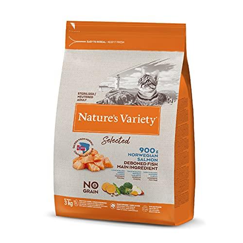 Nature's Variety Selected Croquettes pour Chat Stérilisés avec Saumon Norvégien sans Épines 3 kg 1 Unité