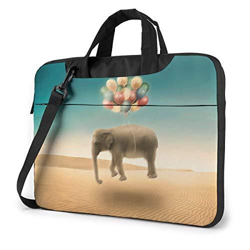 IUBBKI Laptop Case Computer Bag Sleeve Cover Air Balloon Elephant Waterproof Shoulder Briefcase 13 14 15.6 Inch