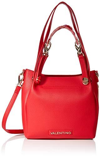 Mario Valentino VBS2ZM01 - Bolsa de Poliuretano Mujer, color Rojo, talla 10.5x22.5x24.5...