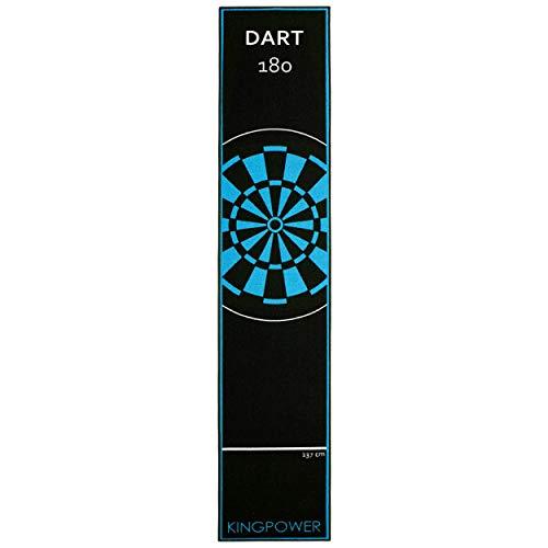 Kingpower Dart Teppich Blau Target Oche Matte Steeldart Dartpfeile Dartboard Zubehör Dartteppich Darts Abwurflinie Schutz Gummi Boden Dartscheibe 290 x 60 cm