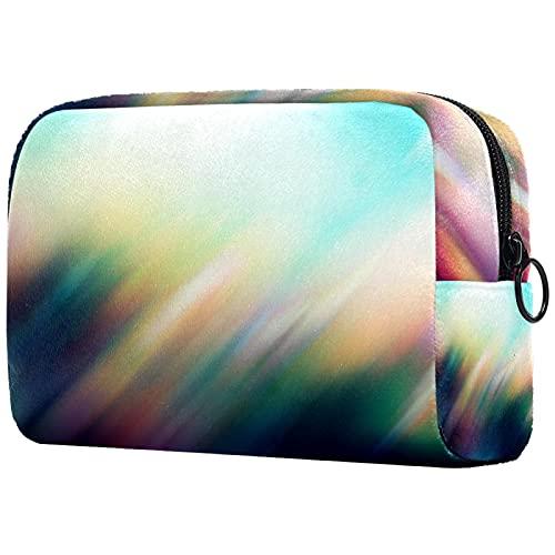 Bolsa de maquillaje de cuero con impresión de cosméticos para mujeres y niñas con bolsa de cremallera duradera ahorro de espacio bolsa de aseo bolso mini bolso 199