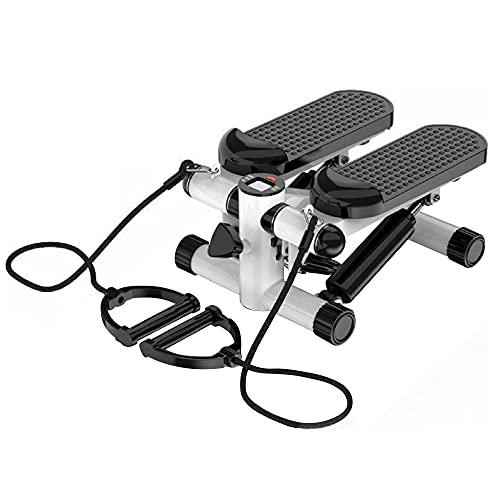 FIT4HOME Mini Stepper machine - with LCD Display and Resistance Band with Handle, Up Down Thigh Toner Steppers for Exercise Workout at home under desk   306W/A