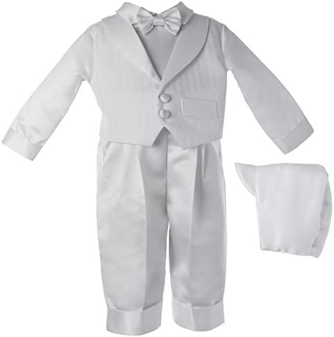 Haddad Brothers Baby Boys Newborn Christening Baptism Special Occasion Satin Long Pants with product image