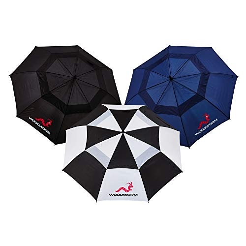 Woodworm 3 Pack of 60 Inch Golf Umbrellas Premium Vented Double Canopy each...