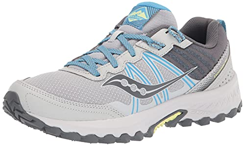 Saucony Women's Excursion TR14 Trail Running Shoe, Grey/Blue/Glade, 9