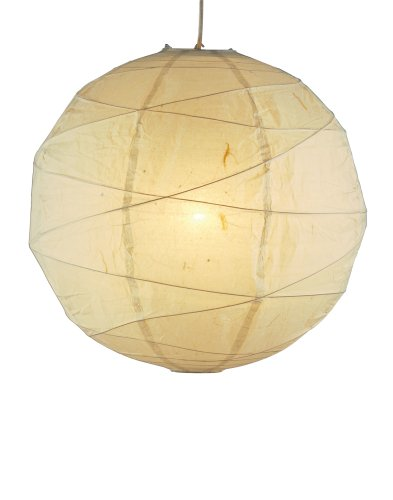 Adesso 4161-12 Orb 19 in. Medium Pendant Lamp, Orb Pendant Light, Natural, Smart Outlet Compatible. Lighting Accessories