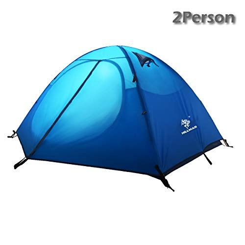 Azarxis 1 2 Person 3 4 Season Professional Backpacking Tent, Dome Tents Easy Setup & UPF 50+ UV Protection Sun Shelter & Double Layer & Waterproof for Camping Hiking Traveling with Carry Bag (Blue)