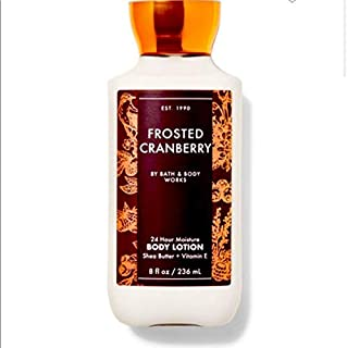 Bath and Body Works Frosted Cranberry 24 Hour Lotion Winter 2020 8 Ounce Bottle