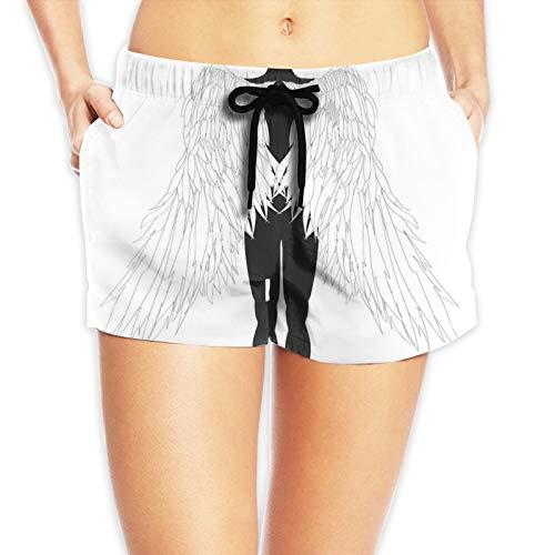 niBBuns Pantalones cortos deportivos de secado rápido para mujer, con bolsillo con cremallera, Nibbuns-4418, L
