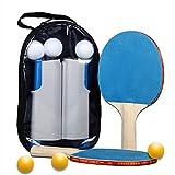 JYL Paleta de Ping Pong, el Juego de paletas de Ping Pong Profesional Incluye-1 Red retráctil-2 paletas-6 Bolas, Actividad Interesante para Jugar en Interiores o Exteriores