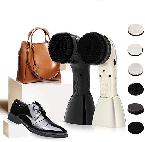 HHORB Pulidor de Zapatos eléctrico, Kit de Limpieza de Zapatos de Mano con USB Recargable, Kit de Cuidado de Cuero inalámbrico, Dispositivo de Cuidado de Cuero en el hogar para Zapatos, Bolsos