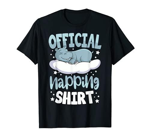 Pijama Hipopótamo Dormir Amante Hipopótamo Oficial Camiseta
