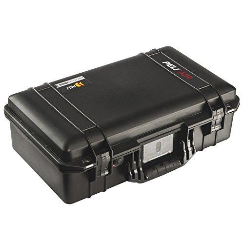 PELI 1525 Air Maleta Protectora Ligera para cámaras DSLR y Equipos ópticos, estanca e Impermeable al Polvo, 26L de Capacidad, Fabricada en EE.UU, con Espuma Personalizable, Color Negro