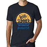 Hombre Camiseta Vintage T-Shirt Gráfico Time To Say Hello To Summer In Bogota Marine