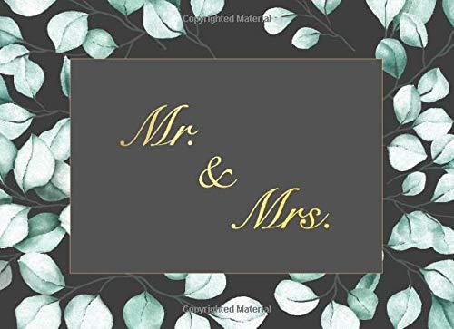 Mr. & Mrs.: Schwarzes Elegantes Hochzeits Gästebuch für unsere Hochzeit mit Fragen und...