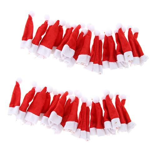 B Blesiya 40 tapas para botellas de vino de Papá Noel, para decoración de fiestas de Lollipop Candy cerveza botella de vino