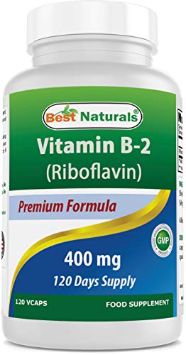 Best Naturals Vitamin B2 Riboflavin 400mg 120 Veggie Capsules