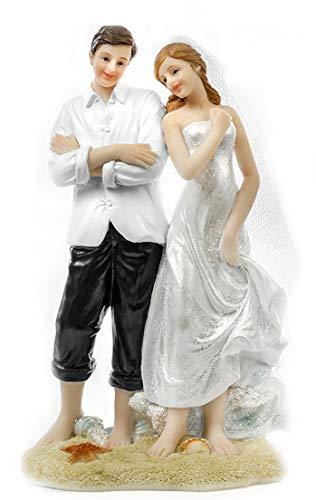 Brautpaar Deko Figur (Flitterwochen Traumstrand)