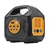 ExpertPower Portable Power Station - 200WH/ 200W Output Rechargeable Solar Generator with 110Vac Outlets, 12VDC Outputs (Car Socket Included), and USB QC3.0 for Camping and Emergency Power Supply