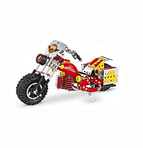Metal Building Blocks Model Kit Bike Mini Motorcycles STEM Mechanical Engineering Educational Learning Brain Teasers Erector Set for Adults Age Kids 8+ Boys Birthday Gift