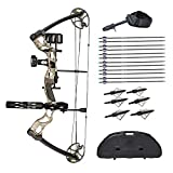 Southland Archery Supply SAS Outrage 70 Lbs 31'' ATA Compound Bow Package (Camo...
