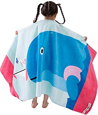 """VOOVA & MOVAS Kids Bath, Pool, Beach Towel for Toddlers Boys Girls,Oversized 30""""x60"""",Soft Absorbent Cotton Swim Cover ups"""