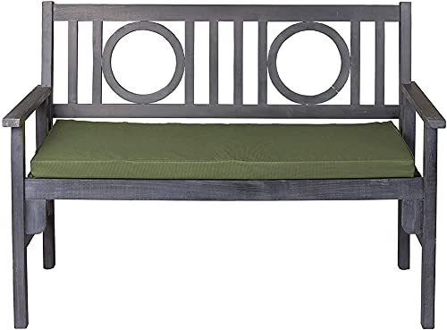 Cojín grueso para banco de jardín de 2 plazas, impermeable para exteriores, cojín de columpio de patio para exteriores, cojín de asiento largo, almohadilla de repuesto antideslizante para sofá