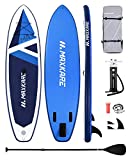 MaxKare 10.6' Stand Up Paddle Board Inflatable SUP 10.6' x 32''x 6'' with Premium Paddleboard & Triple Action Speed Pump & Portable Backpack for Youth Adult Have Fun in River, Oceans and Lakes