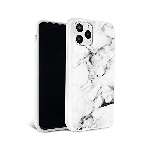 Felony Case - iPhone 12 Pro Max Case - Stylish White Polished Marble Phone Cover - Anti-Scratch, Wireless Charging Compatible, 360° Shockproof Protective Cases for Apple iPhone 12 Pro Max