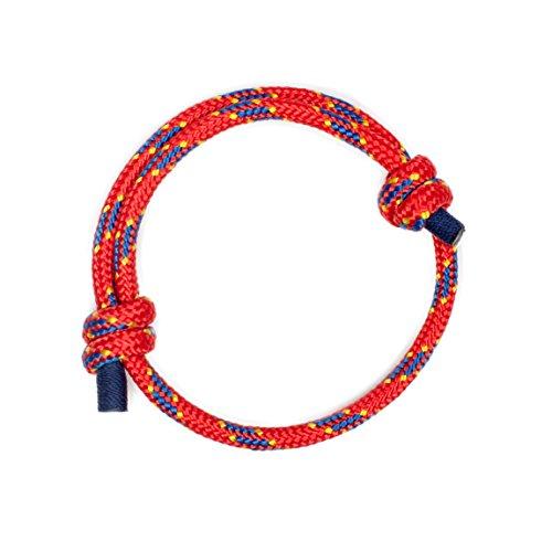 Pulsera Náutica Elegante Roja de Cuerda de la Más Alta Calidad para Hombre