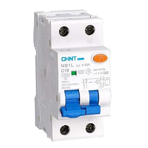 curva B Interruptor de circuito en miniatura 63 A Chint NB1-63BH2P63 10 kA 2 polos