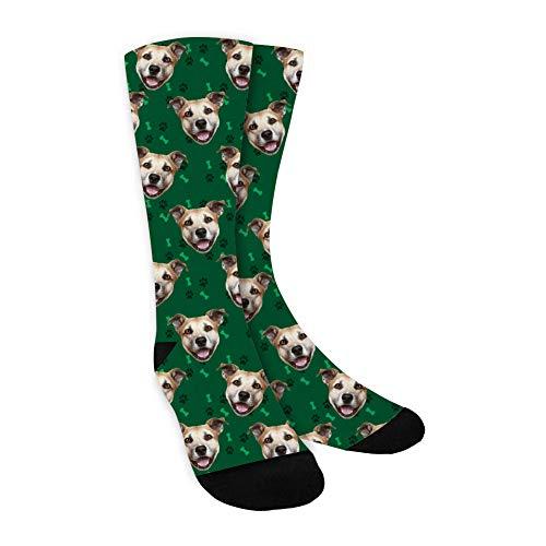 COSOPT Personalisierte Foto socken,DIY Lustige Socken mit jedem Foto,Gesichts Socken,Setzen Sie Ihr Gesicht auf Socken Personalisiert für Frauen Männer,Weihnachten, Jubiläum
