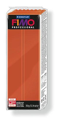 Staedtler 8001-74. Pasta para modelar Fimo Professional, color terracota. Caja con una pastilla de 350 g.